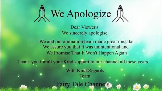 les excuses de Fairy Tale Channels